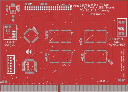 pcb TerribleFire 328 pour Amiga CD32