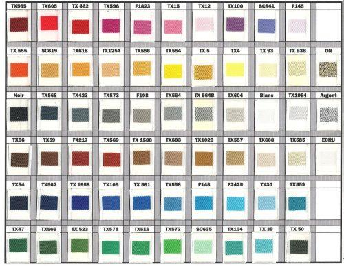 gamme coloris tissage